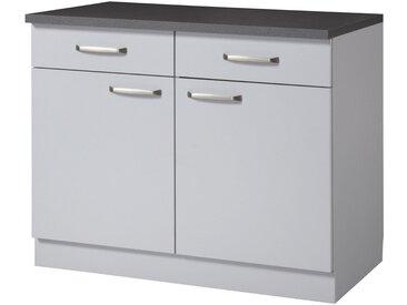wiho Küchen Unterschrank »Michigan«, grau, grau