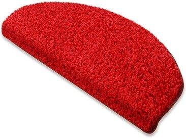 Floordirekt Stufenmatte »Shaggy-Stufenmatte Barcelona«, Halbrund, rot, Rot 120