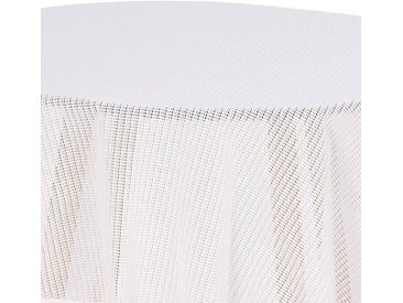 Woltu Gartentischdecke, Tischdecke mit Quaste geschäumt rund, weiß