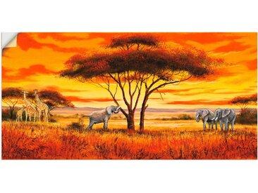 Artland Wandbild »Afrikanische Landschaft II«, Afrika (1 Stück), Wandaufkleber - Vinyl