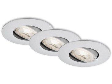 Briloner Leuchten LED Einbauleuchte »Kleobar«, Einbauleuchte SET ultraflach schwenkbar IP23 Ø 9cm