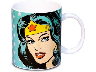 LOGOSHIRT Tasse in coolen Design »Wonder Woman«, blau, turquoise