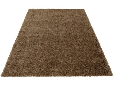 Bruno Banani Hochflor-Teppich »Shaggy 50«, rechteckig, Höhe 50 mm, natur, sand
