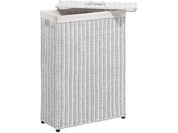 heine home Wäschekorb mit Deckel, weiß, ca. 70/50/20 cm, weiß