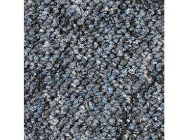 Bodenmeister BODENMEISTER Teppichboden »Schlinge Hoch-Tief«, Meterware, Breite 400/500 cm, blau, blau
