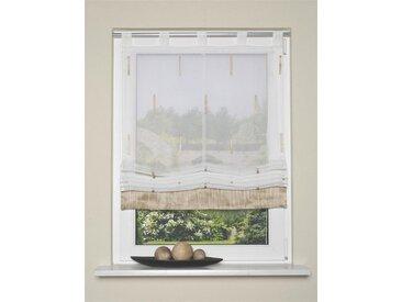 HOME WOHNIDEEN Raffrollo »Scherli Melange 140 x 120 cm Natur«