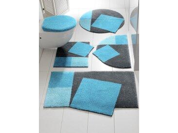 Grund Badgarnitur in außergewöhnlicher Form, blau, türkis/grau