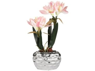 Kunstblume »Amaryllis«, Höhe 49 cm, Fest verankert im Keramiktopf, rosa, rosa-grün-silberfarben