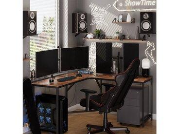 VASAGLE Eckschreibtisch »LWD73X«, L-förmiger Computertisch, Bürotisch, vintage