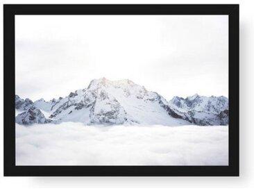 POSTORO Bild »Above The Clouds«, Schwarzer Holzrahmen, DIN A4