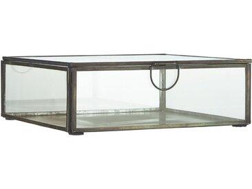 Ib Laursen Holzkiste »Glasbox Serviettenhalter Schmuckkasten Glas Dose Schwarz 0884-25«