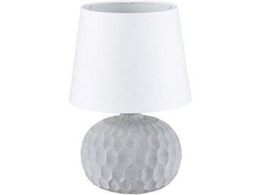 relaxdays Nachttischlampe »Tischlampe mit Zementsockel«