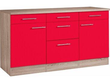 OPTIFIT Unterschrank »Korfu«, Breite 150 cm mit Metallgriffen, rot, rot