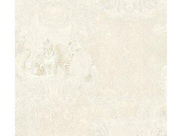 living walls LIVINGWALLS Vliestapete »Hermitage«, weiß, 0.53 m x 10.05 m, weiß/silberfarben