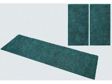 Home affaire Bettumrandung »Shaggy 30« , Höhe 30 mm, blau, aquamarin