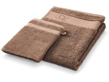 DESCAMPS Handtuch und Waschlappen in cacao