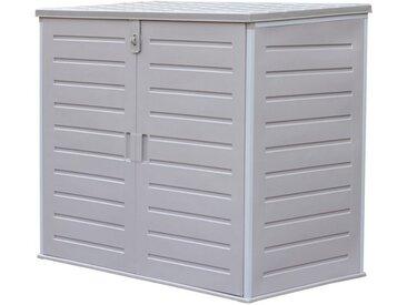 GMD Living Auflagenbox »PRIMO« (Mülltonnenbox mit Klappdeckel und Drehtüren), wetterfest mit viel Stauraum