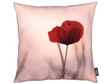Juniqe Dekokissen »Rose Papermoon«, Weiches, allergikerfreundliches Material