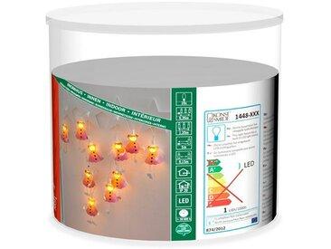 KONSTSMIDE LED Dekolichterkette, Engel, orange, Lichtquelle warm-weiß, Pink