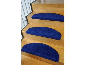Living Line Stufenmatte »Trend«, halbrund, Höhe 8 mm, 15 Stück, große Farbauswahl, Velours, blau, blau