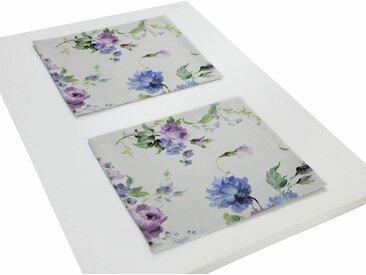 Wirth Platzset, »MONTROSE«, (Packung, 2-St), lila, lila-blau