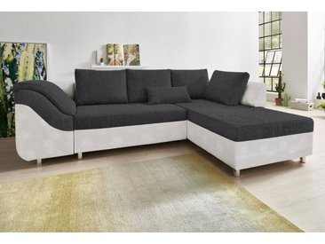 COLLECTION AB Ecksofa, mit Bettfunktion und Bettkasten, grau, silbergrau-anthrazit