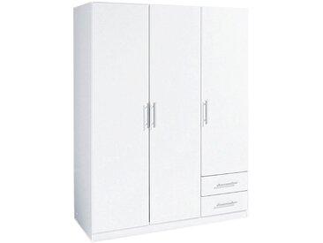 Wimex Eckkleiderschrank »Spectral«, weiß, Türen: 3 - ohne Spiegel, weiß