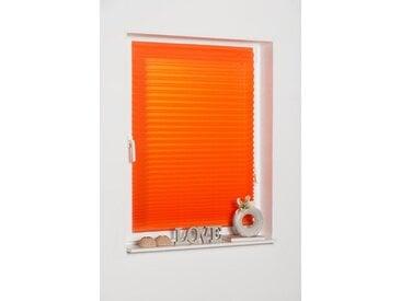 K-HOME Plissee »COMO«, Lichtschutz, freihängend, orange, terra