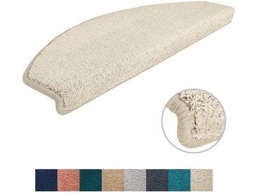 Metzker® Stufenmatte »Sweet«, halbrund, Höhe 14 mm, 18 Stück im Set, weiß, 18 St., Creme