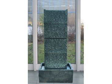 Köhko Zimmerbrunnen »KÖHKO® Zimmerbrunnen ca. 85 CM mit LED-Beleuchtung Wasserfall in Wellenform für Wohnzimmer Terrasse und Balkon«