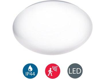 B.K.Licht LED Deckenleuchte »Polaris«, LED Deckenlampe Badezimmerleuchte Bewegungsmelder Sensor Glas 1200 Lumen 4.000K IP44