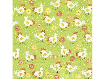 Paper+Design Papierserviette »Hühnerfarm«, (5 St), 33 cm x 33 cm, 5 St.