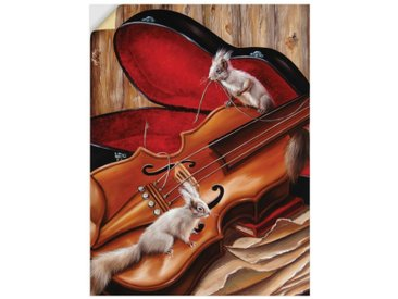 Artland Wandbild »Violine mit Eichhörnchen«, Instrumente (1 Stück), Wandaufkleber - Vinyl