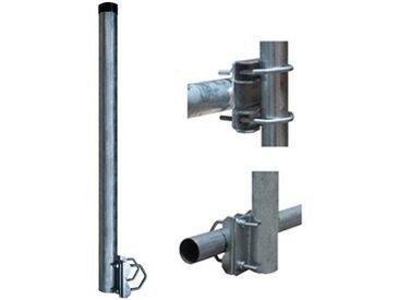 PremiumX »Balkon-Halter 50cm Ø 60mm Stahl Mast Geländer-Halterung für Satelliten-Schüssel SAT-Antenne Satelliten-Anlage Sat-Spiegel Ausleger - auch nutzbar als Mastaufsatz Mast-Verlängerung« SAT-Halterung