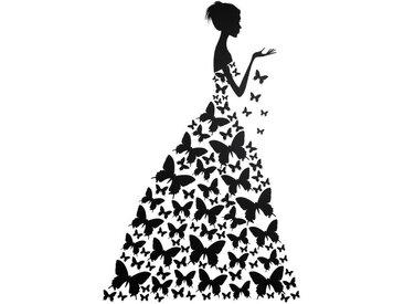 Wandtattoo »Schmetterlingsfrau«