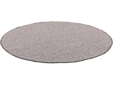 LUXOR living Wollteppich »Sheffield«, rund, Höhe 5 mm, Schurwolle, Berber-Optik, grau, grau