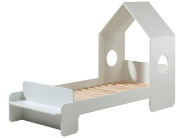 Vipack Hausbett »Hausbett Maxi inkl Rolllattenrost + Sitzbank + Dachüberbau«