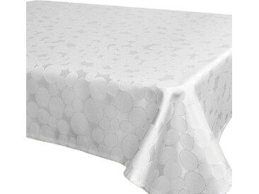 Delindo Lifestyle Tischdecke »ROM«, Jacquard, Fleckschutz, 180 g/m², weiß, weiß