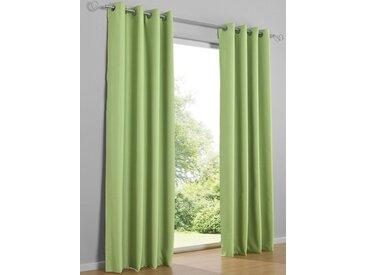 heine home Dekoschal unifarben, grün, mit Ösen, grün