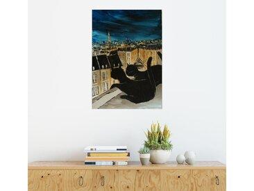 Posterlounge Wandbild, Die Dächer von Paris, Premium-Poster