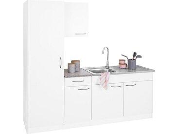 wiho Küchen Küchenblock »Kiel«, Breite 190 cm, mit 28 mm starker Arbeitsplatte, Tiefe 50 cm