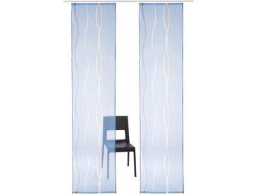 my home Schiebegardine »Dimona«, Klettschiene (2 Stück), inkl. Befestigungszubehör, blau, blau-weiß