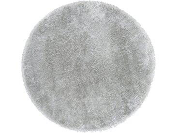 Andiamo Fellteppich »Lamm Fellimitat«, rund, Höhe 20 mm, Kunstfell, besonders weich durch Microfaser, grau, hellgrau