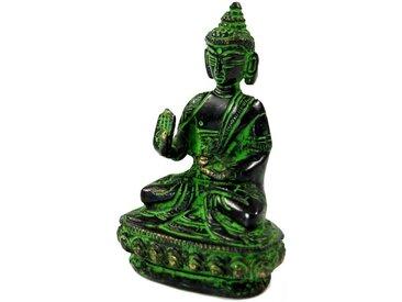 Guru-Shop Buddhafigur »Buddha Statue aus Messing Abhaya Mudra 10 cm -..«