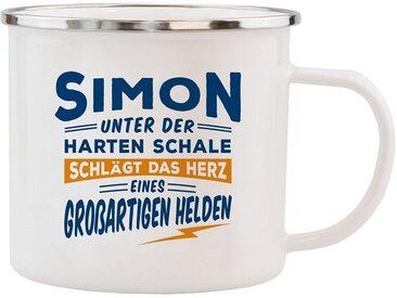 HTI-Living Becher »Echter Kerl Emaille Becher Simon«