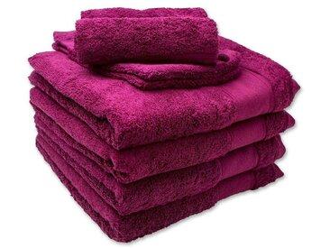 DESCAMPS Handtuch und Waschlappen 8 Teile in lila