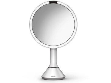 simplehuman Spiegel »20 cm Sensorspiegel mit Touch-Helligkeitsregelung«, weiß, weiß
