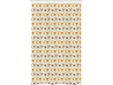 Abakuhaus Duschvorhang »Badezimmer Deko Set aus Stoff mit Haken« Breite 120 cm, Höhe 180 cm, Hase floral Tiere
