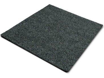 casa pura Teppichfliese »Can Can«, Quadratisch, Höhe 6 mm, Gerippt, Selbstliegend, grau, Grau