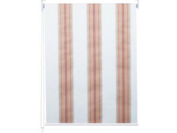 MCW Seitenzugrollo »-D52-50x160«, abdunkelnd, verschraubt, blickdicht, bunt, weiß-rot-beige